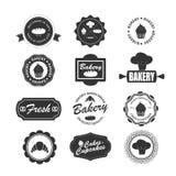 Σύνολο εκλεκτής ποιότητας ετικετών αρτοποιείων, διακριτικά και στοιχεία σχεδίου Ελεύθερη απεικόνιση δικαιώματος