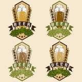 Σύνολο εκλεκτής ποιότητας ετικετών μπύρας Στοκ φωτογραφία με δικαίωμα ελεύθερης χρήσης