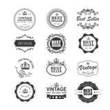 Σύνολο εκλεκτής ποιότητας διακριτικών και αυτοκόλλητων ετικεττών καλύτερων πωλητών Απεικόνιση αποθεμάτων