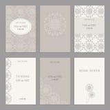 Σύνολο εκλεκτής ποιότητας προτύπων καρτών editable Στοκ εικόνες με δικαίωμα ελεύθερης χρήσης