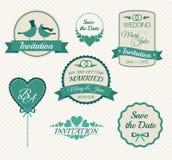 Σύνολο εκλεκτής ποιότητας στοιχείων σχεδίου γαμήλιας πρόσκλησης Στοκ φωτογραφία με δικαίωμα ελεύθερης χρήσης