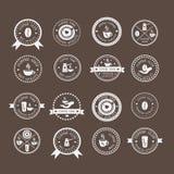 Σύνολο εκλεκτής ποιότητας στοιχείων ύφους της καφετερίας Στοκ Εικόνες