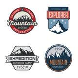 Σύνολο εκλεκτής ποιότητας υπαίθριων ετικετών βουνών στοκ φωτογραφία με δικαίωμα ελεύθερης χρήσης