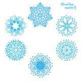 Σύνολο δεμένα snowflakes Στοκ φωτογραφία με δικαίωμα ελεύθερης χρήσης