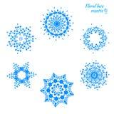 Σύνολο δεμένα snowflakes Στοκ Φωτογραφίες