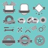 Σύνολο εμβλήματος, logotype για το μηχανικό, γκαράζ, επισκευή αυτοκινήτων, υπηρεσία Στοκ Εικόνες