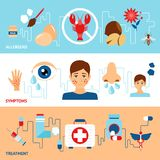 Σύνολο εμβλημάτων αλλεργίας Στοκ φωτογραφία με δικαίωμα ελεύθερης χρήσης