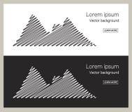 Σύνολο εμβλημάτων βουνών Η υπαίθρια και έννοια ταξιδιού για διαφημίζει Στοκ εικόνες με δικαίωμα ελεύθερης χρήσης