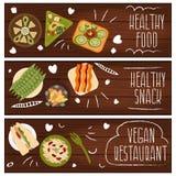Σύνολο εμβλημάτων για τα υγιή τρόφιμα χορτοφάγων θέματος Διάνυσμα ι Στοκ φωτογραφίες με δικαίωμα ελεύθερης χρήσης