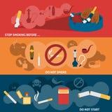 Σύνολο εμβλημάτων καπνίσματος Στοκ Εικόνα