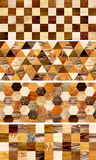 Σύνολο εμβλημάτων με τα ξύλινα σχέδια Στοκ Φωτογραφίες