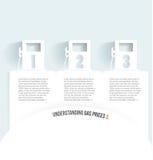 Σύνολο εμβλημάτων με το κάνιστρο. αντλία αερίου στο λευκό Στοκ Εικόνα