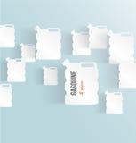 Σύνολο εμβλημάτων με το κάνιστρο. αντλία αερίου στο λευκό Στοκ φωτογραφία με δικαίωμα ελεύθερης χρήσης