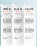 Σύνολο εμβλημάτων με το κάνιστρο. αντλία αερίου στο λευκό Στοκ Εικόνες