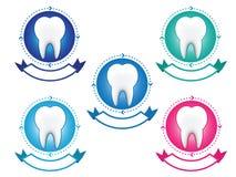 Σύνολο εμβλημάτων δοντιών Στοκ φωτογραφία με δικαίωμα ελεύθερης χρήσης