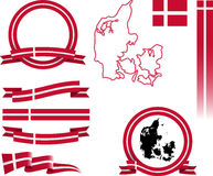 Σύνολο εμβλημάτων της Δανίας Στοκ Φωτογραφίες