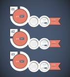 Σύνολο 3 εμβλημάτων φυσαλίδων διανυσματική απεικόνιση