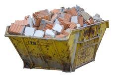 Σύνολο εμπορευματοκιβωτίων αποβλήτων κατασκευής του υλικού από κατεδαφισμένος wa Στοκ εικόνα με δικαίωμα ελεύθερης χρήσης
