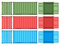 Σύνολο εμπορευματοκιβωτίων μετάλλων για τη μεταφορά Στοκ φωτογραφία με δικαίωμα ελεύθερης χρήσης