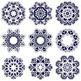 Σύνολο εννέα κυκλικών σχεδίων απεικόνιση αποθεμάτων