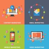 Σύνολο εννοιών σχεδίου μάρκετινγκ διανυσματική απεικόνιση