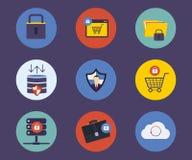 Σύνολο επίπεδων εικονιδίων έννοιας σχεδίου για την τεχνολογία απεικόνιση αποθεμάτων