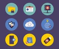 Σύνολο επίπεδων εικονιδίων έννοιας σχεδίου για την τεχνολογία διανυσματική απεικόνιση