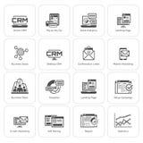 Σύνολο επίπεδων εικονιδίων επιχειρήσεων και μάρκετινγκ Στοκ Εικόνα
