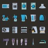 Σύνολο επίπεδων εικονιδίων οικιακών συσκευών απεικόνιση αποθεμάτων