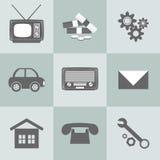 Σύνολο επίπεδων εικονιδίων σχεδίου για την επιχείρηση Στοκ Εικόνες