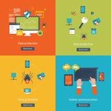 Σύνολο επίπεδων εννοιών απεικόνισης σχεδίου διανυσματικών Στοκ εικόνες με δικαίωμα ελεύθερης χρήσης