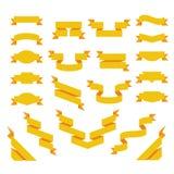 Σύνολο επίπεδων κορδελλών. Origami που ορίζεται Στοκ εικόνα με δικαίωμα ελεύθερης χρήσης