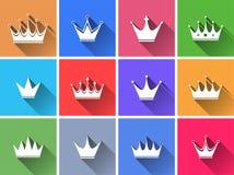 Σύνολο επίπεδων κουμπιών επιλογής χρωμάτων. Στοκ Εικόνα