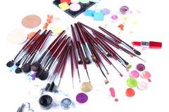 Σύνολο επαγγελματικά βουρτσών και applicators makeup Στοκ φωτογραφία με δικαίωμα ελεύθερης χρήσης