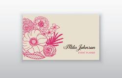 Σύνολο επαγγελματικής κάρτας με τη floral αραβική διακόσμηση Floral εκλεκτής ποιότητας επαγγελματική κάρτα Στοκ Εικόνα