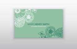 Σύνολο επαγγελματικής κάρτας με τη floral αραβική διακόσμηση Floral εκλεκτής ποιότητας επαγγελματική κάρτα Στοκ φωτογραφία με δικαίωμα ελεύθερης χρήσης
