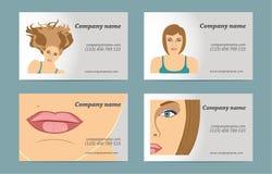 Σύνολο επαγγελματικής κάρτας των γυναικών Στοκ Εικόνα