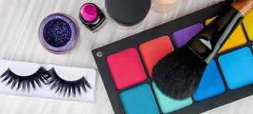 Σύνολο επαγγελματικού makeup Στοκ Φωτογραφίες