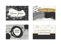 Σύνολο επαγγελματικών καρτών με συρμένα τα χέρι στοιχεία Στοκ εικόνες με δικαίωμα ελεύθερης χρήσης