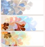 Σύνολο επαγγελματικών καρτών με τη φουτουριστική διακόσμηση Στοκ φωτογραφία με δικαίωμα ελεύθερης χρήσης