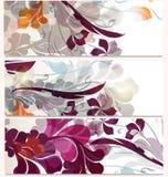 Σύνολο επαγγελματικών καρτών με τη φουτουριστική διακόσμηση Στοκ εικόνα με δικαίωμα ελεύθερης χρήσης