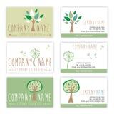 Σύνολο επαγγελματικών καρτών φύσης και κηπουρικής Στοκ Εικόνες