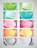 Σύνολο επαγγελματικών καρτών Στοκ εικόνες με δικαίωμα ελεύθερης χρήσης