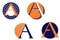 Σύνολο επιστολής λογότυπα που απομονώνονται Στοκ Εικόνες