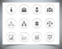Σύνολο επιχειρησιακών εικονιδίων στοκ εικόνες με δικαίωμα ελεύθερης χρήσης