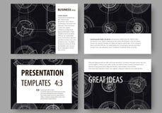 Σύνολο επιχειρησιακών προτύπων για τις φωτογραφικές διαφάνειες παρουσίασης Εύκολα editable σχεδιαγράμματα, διανυσματική απεικόνισ Στοκ Εικόνα