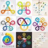 Σύνολο επιχειρησιακών infographic προτύπων Στοκ εικόνα με δικαίωμα ελεύθερης χρήσης