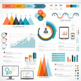 Σύνολο επιχειρησιακών infographic στοιχείων Στοκ Εικόνες