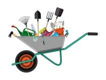 Σύνολο εργαλείων κηπουρικής Εξοπλισμός για τον κήπο ελεύθερη απεικόνιση δικαιώματος