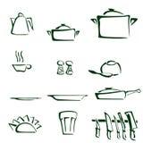 Σύνολο εργαλείων κουζινών Ελεύθερη απεικόνιση δικαιώματος